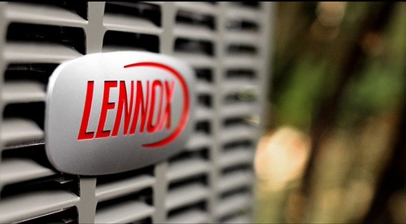lennox logo up close on AC - Keeping Your Furnace Filter Clean Is the Single Most Important Thing You Can Do as a Homeowner