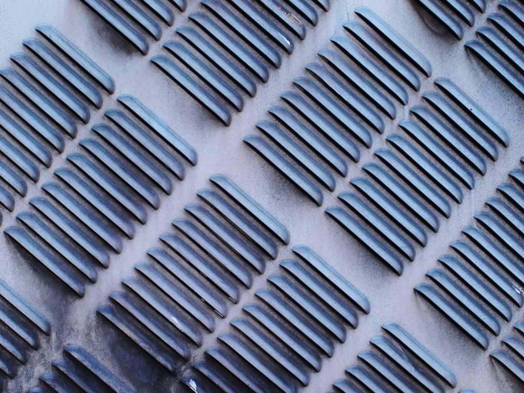 close up of a heater vent