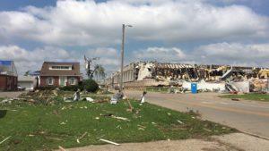 YT Lennox plant tornado 300x169 - Aftermath of the Marshalltown Tornado