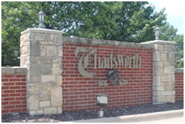 Sign of Chadsworth Subdivision, a neighborhood near New Market Square